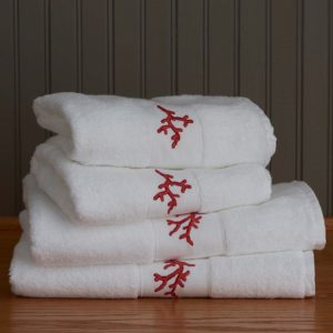 Coral Bath Towels