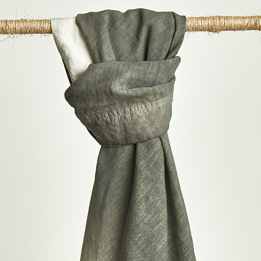 Dip Dye Charcoal Throw