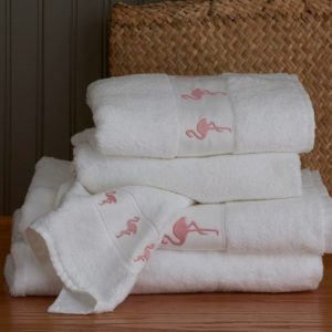 Flamingo Bath Towels