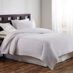 Flynn White Coverlet and Shams