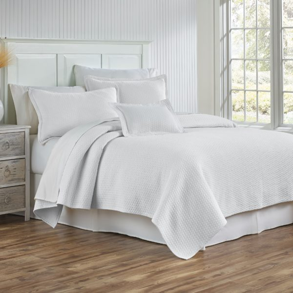 Tracey White Coverlet and Shams