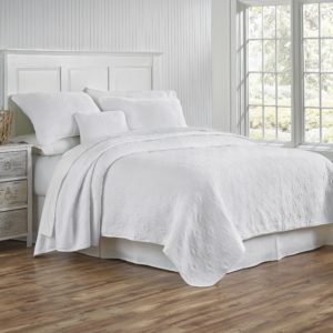 Whitney White Coverlet and Shams