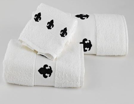 Regio Towels White Black