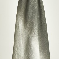 Dip Dyed Charcoal Linen Throw