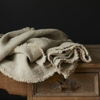 Rustic Linen Natural Throw
