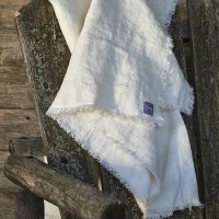 Rustic Linen Ivory Throw
