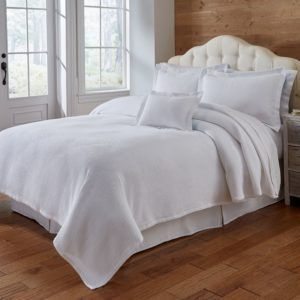 Blair White Coverlet and Shams