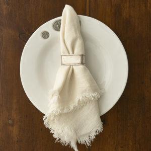 Rustic Linen Ivory Napkin