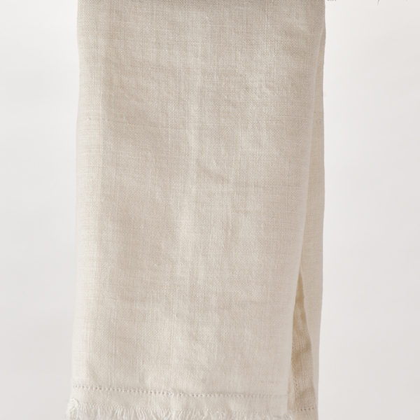 Rustic Linen Ivory Tea Towel