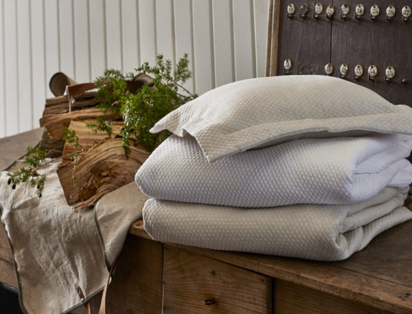 Blair White and Linen Coverlets