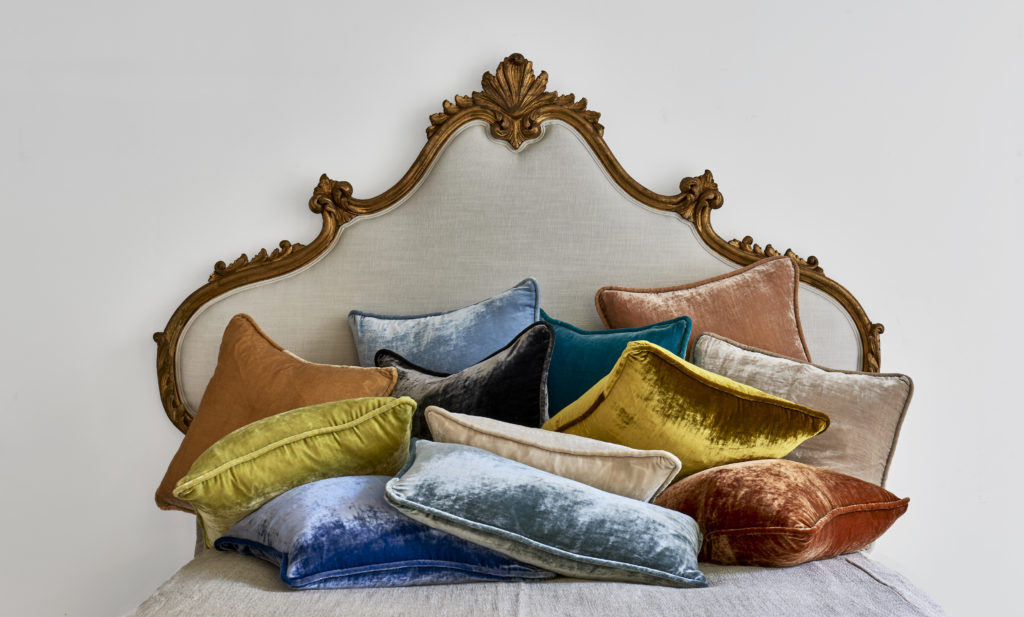 Vintage Velvet Corded Pillows