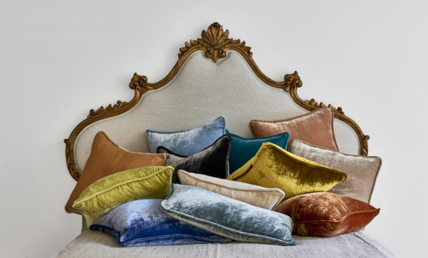 Vintage Velvet Corded Pillows