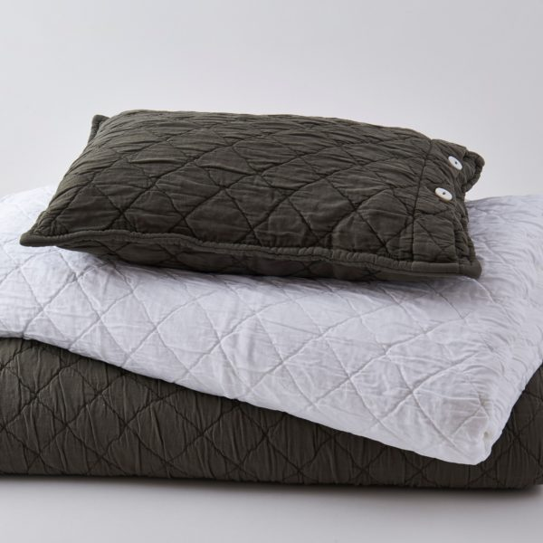 Louisa Coverlets White and Charcoal