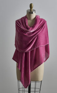 Vintage Velvet Nicole Shawl - Antique Rose