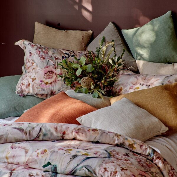 Verona on Bed with assorted Barrington pillows