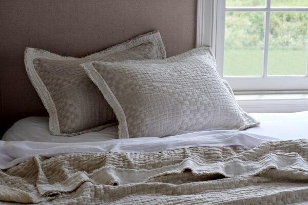 Hudson Linen on bed