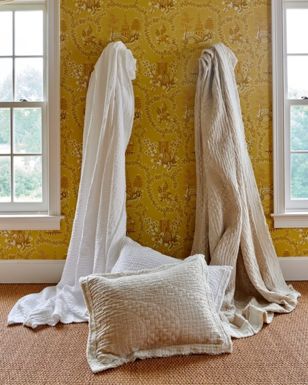 Hudson White and Linen Hanging