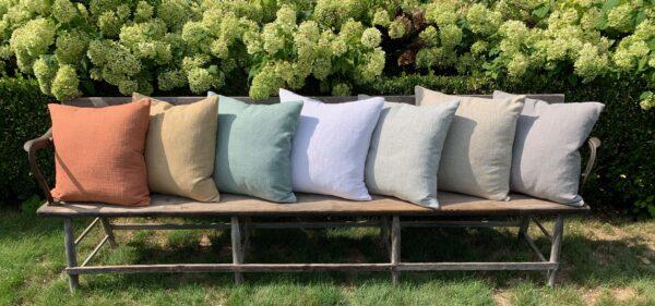 Barrington Pillows on long bench