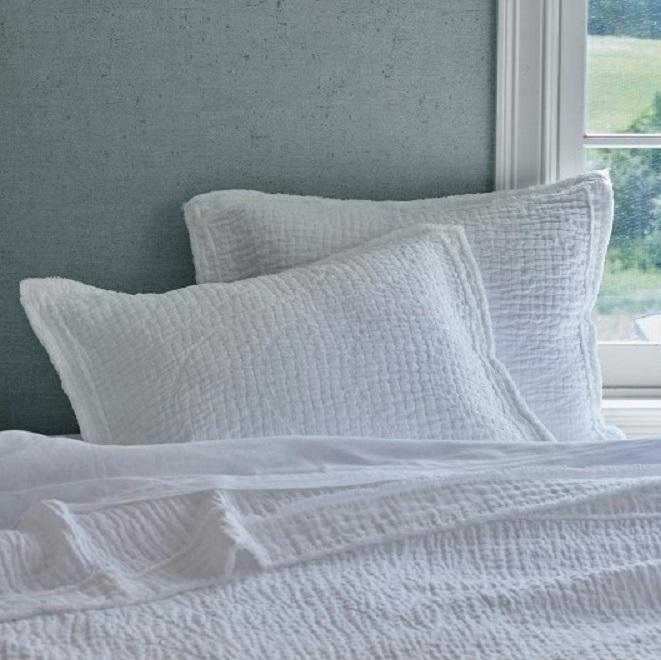 Hudson White on bed
