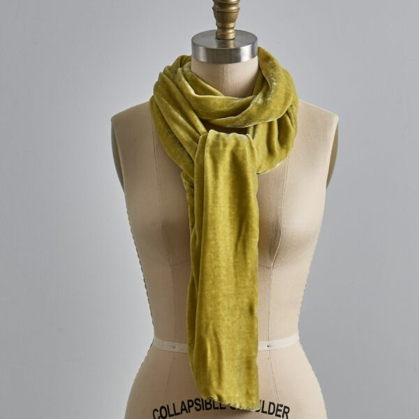 Vintage Velvet Scarf - Apple Green